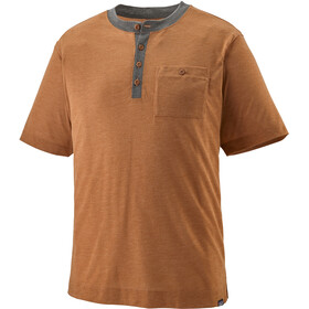 Patagonia Capilene Cool Trail Henley Camiseta Manga Corta Hombre, marrón